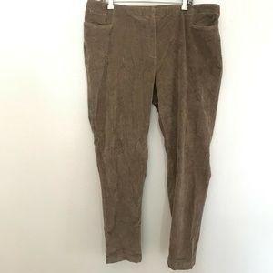 J. Jill Corduroy Size 20 Ankle Cotton Blend Pants